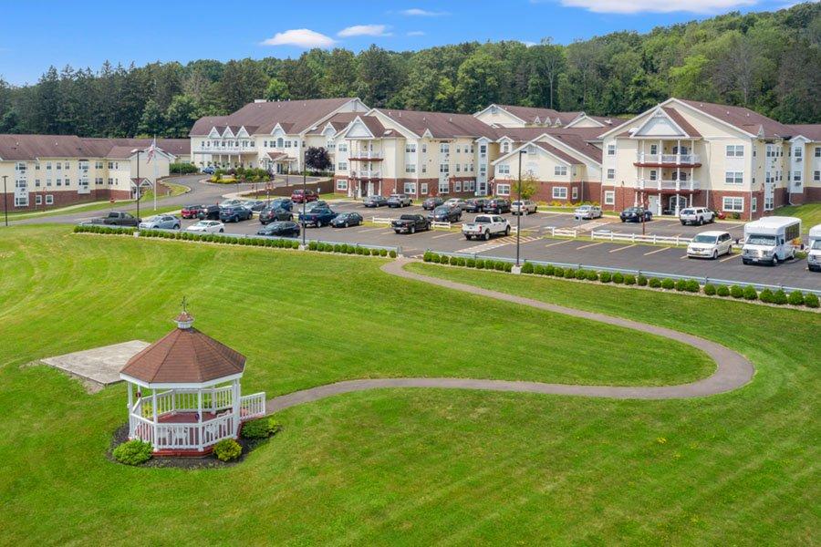 Appleridge Senior Living - Aerial View of Gazebo and Campus